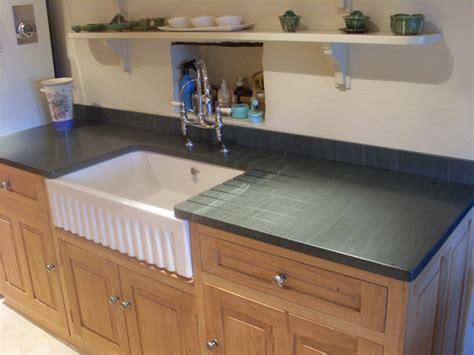 Kitchen Worktops Slate Work Top And Belfast Sink Extension Utility Room