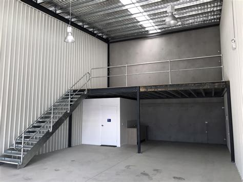 a mezzanine floor construction plan for a commercial shed