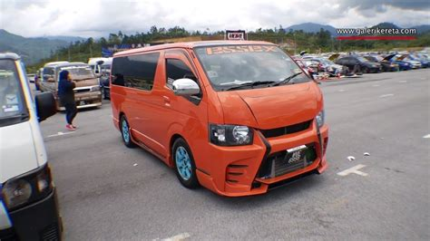 nissan urvan modified the orange hiace malaysia modified mega gathering 2k16