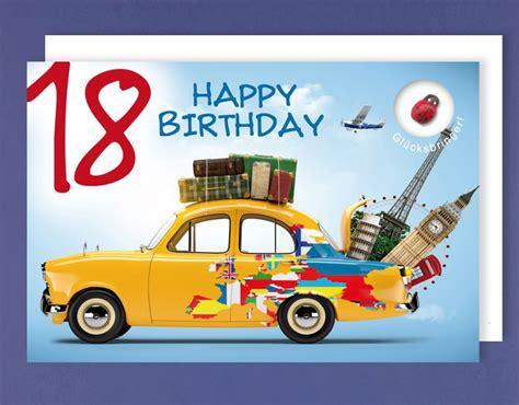 Home Design 30 X 50 by Gru 223 Karte 18 Geburtstag Karte Happy Birthday Applikation