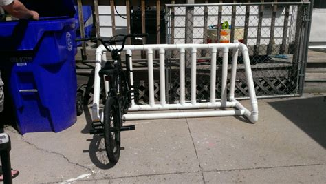 Pvc Bike Rack For by Pvc Bike Rack Spray Paint Nifty Thrify Tips