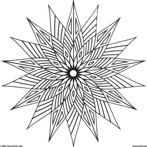 Coloring Pages Designs Free Coloring Pages Geometric Geometric Coloring Pages Free