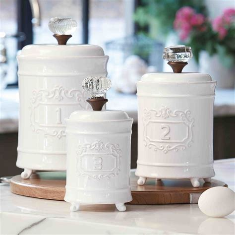 Glass Kitchen Canister Sets circa canister set mud pie