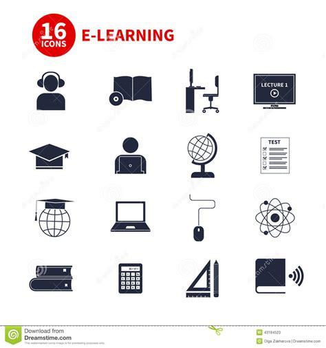 4 designer illustration style education e learning icons stock illustration image 43184523