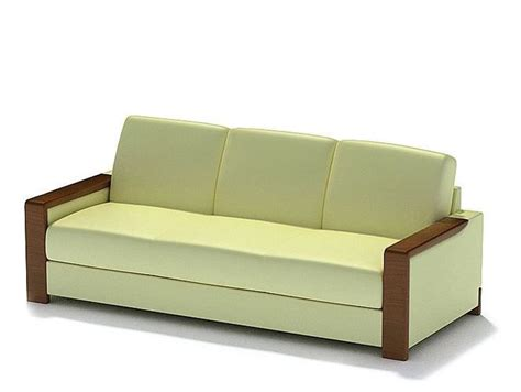 Light Yellow Leather Couch 3d Model Cgtrader Com