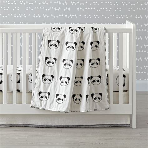Panda Crib Bedding Panda Crib Bedding The Land Of Nod