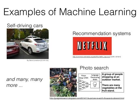pattern classification exles exles of machine learning http googleresearch