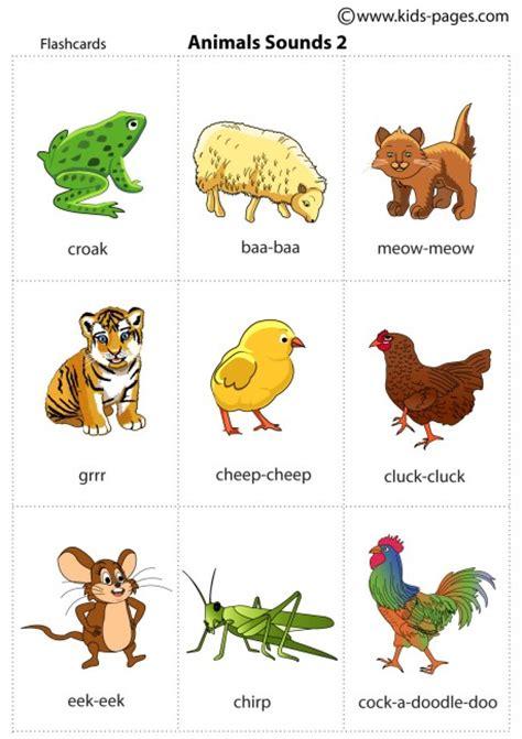 animal sounds animals sounds 2 flashcard