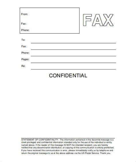 12 Free Fax Cover Sheet Templates Free Sle Exle Format Download Free Premium Microsoft Office Fax Cover Sheet Template