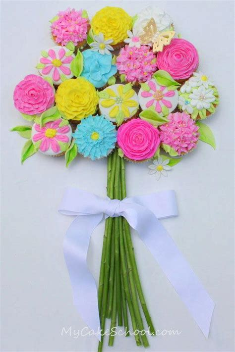 Home Decor Party Plan Companies cupcake bouquet of flowers allfreediyweddings com