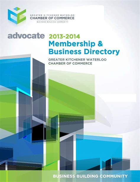 Kitchener Waterloo Business Directory by 2013 2014 Greater Kw Chamber Advocate Membership