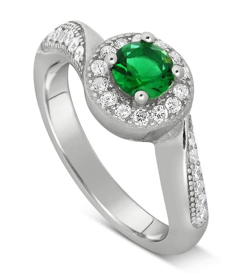 antique designer 1 carat emerald and engagement