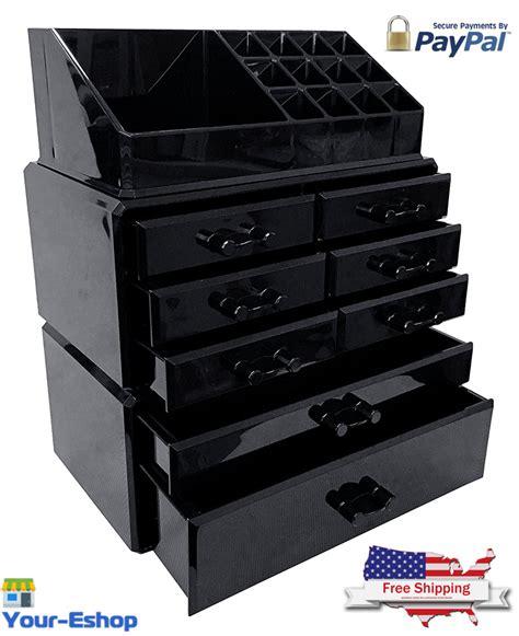 Black Makeup Drawers by Black Acrylic Makeup Organizer Drawers Box Make Up