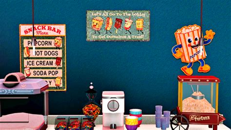 my sims 3 home theater decor by francythatsims