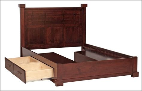 Queen Size Bed Frame With Drawers Underneath Bedroom Bed Frame With Drawers Underneath