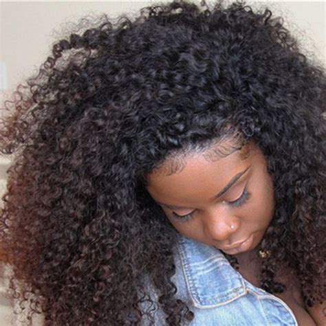 how to put clips in short natural african american hair 3b 3c kinky curly clip in human hair extensions 8a