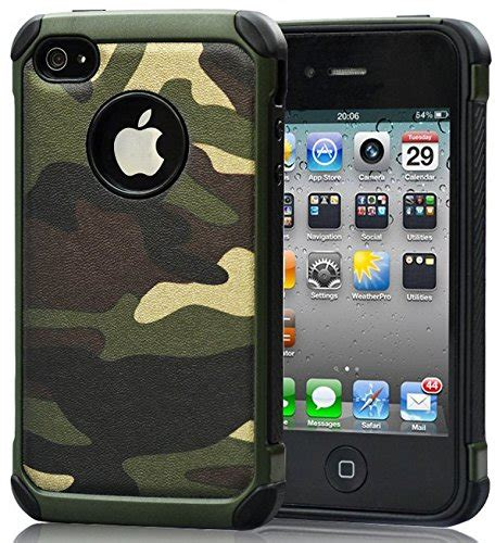 Apple Iphone 4 4s Rugged Shockproof Armor Hybrid Soft 2 iphone 4 iphone 4s camo defender shockproof drop proof high impact armor plastic and