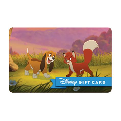 Fox And Hound Gift Card - your wdw store disney collectible gift card fox and the hound