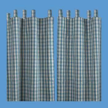 curtains 90 x 84 curtains blue 100 cotton panels 84 quot x 90 quot