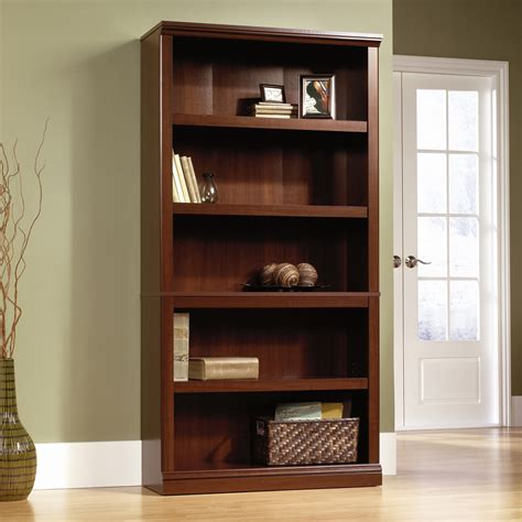 sauder bookcase with sauder select cherry 5 shelf bookcase 412835