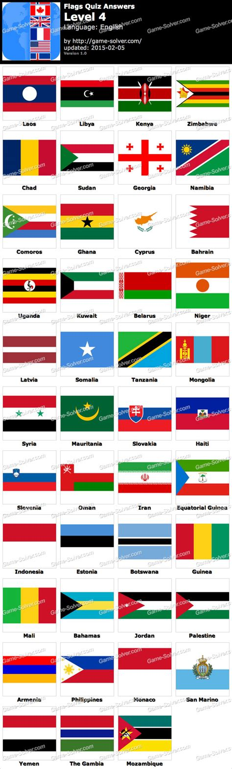 flags of the world quiz level 2 flags quiz level 4 game solver