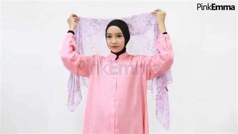 tutorial hijab pashmina pink emma tutorial hijab pashmina drapery sing youtube