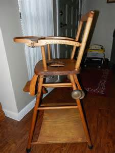 Antique Potty Chair Vintage Wooden High Chair Potty Chair And Play Chair In