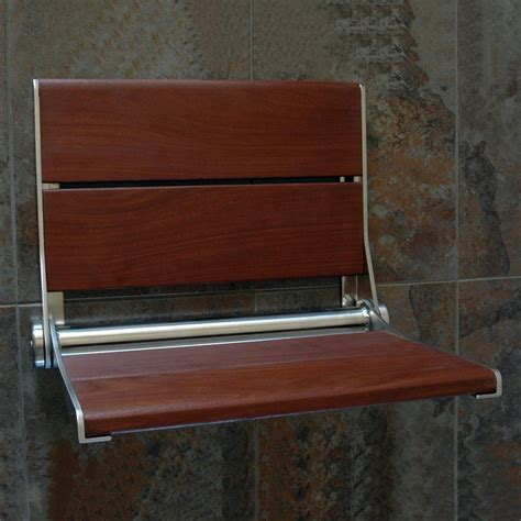 Shower Chair Lowes by Shop Health Craft Brazillian Walnut Wood Wall Mount Shower