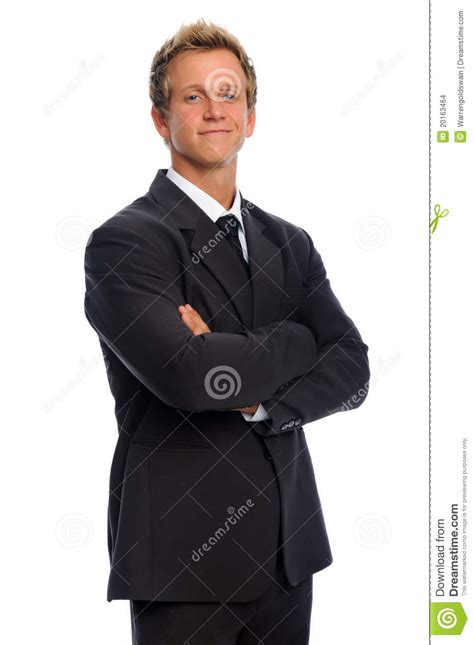 Baju Yogs Blak White handsome in business suit stock images image 20163464