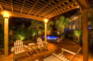 The Patio Tampa Landscape Lighting With Pergola Traditional Patio