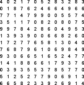 Free Lookup Number 4 Digit Numbers Free Word Search Puzzle