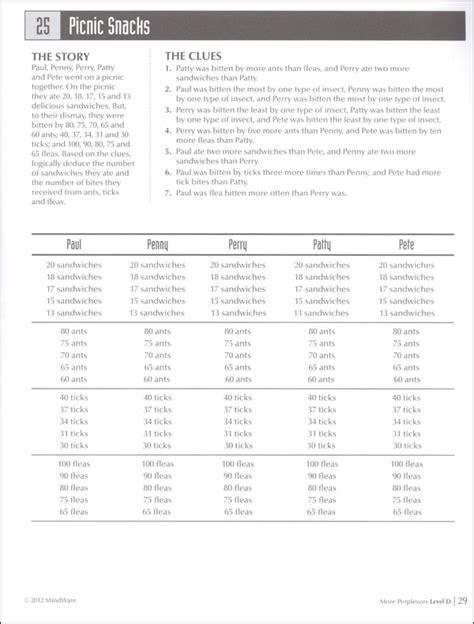 mindware printable logic puzzles perplexors more level d 014591 details rainbow