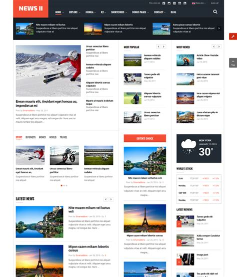 best joomla magazine templates 28 images 30 best