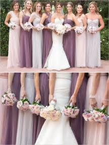 bridesmaid dresses colors glitzy and glamorous wedding in pink purple wedding