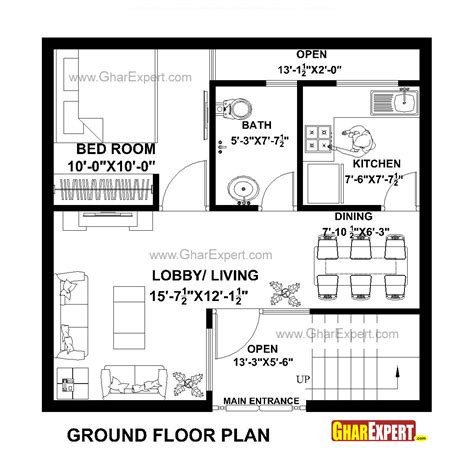 Plans For A 25 By 25 Foot Two Story Garage | house plan for 25 feet by 24 feet plot plot size 67