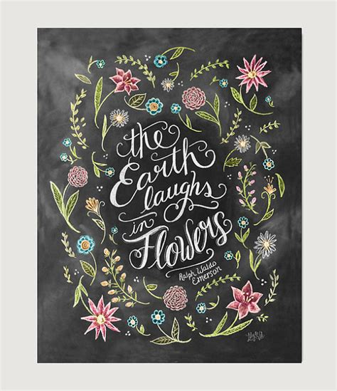 printable chalkboard flowers the earth laughs in flowers spring decor flower by lilyandval