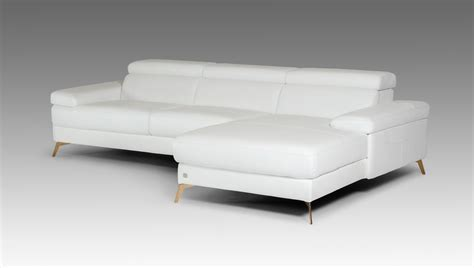 kayla couch divani casa kayla modern white italian leather sectional sofa