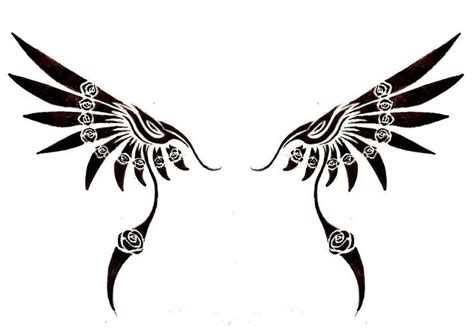 cross with eagle wings tattoo tribal wing by jaicy deviantart on deviantart tats