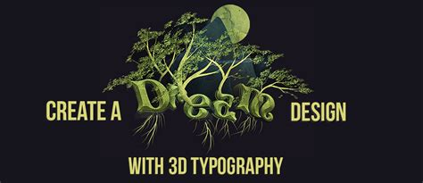 design dream 3d typography tutorial