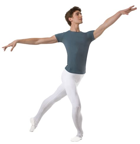 in leotard and tights ballet