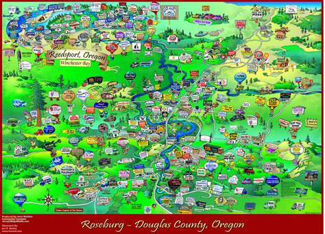 roseburg oregon map roseburg oregon