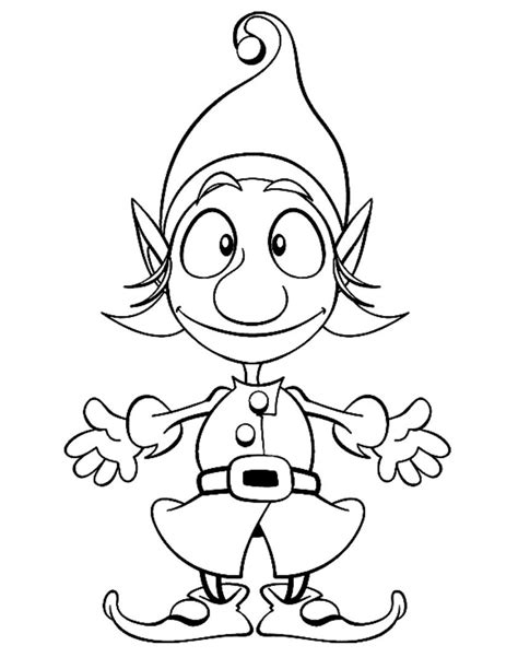 elf size coloring page christmas elf coloring pages for kids christmas coloring