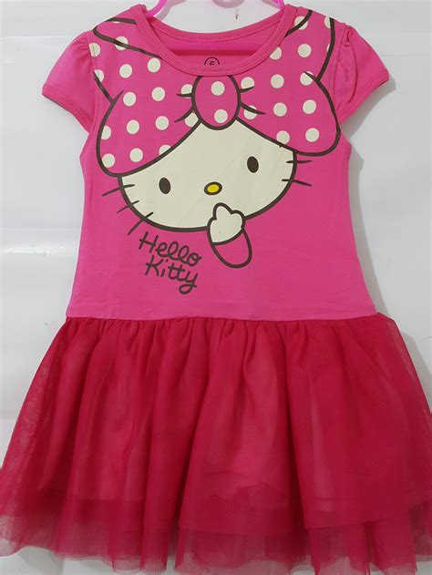 Kaos Dress Anak Printing Unicorn Pink baju anak dress tutu hello 1 6 grosir eceran
