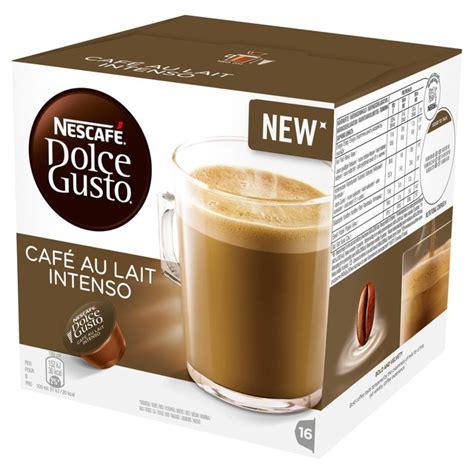 Nescafe Dolce Gusto Cafe Au Lait 16 Capsule Coffee Kapsul Kopi morrisons nescafe dolce gusto cafe au lait intenso 16