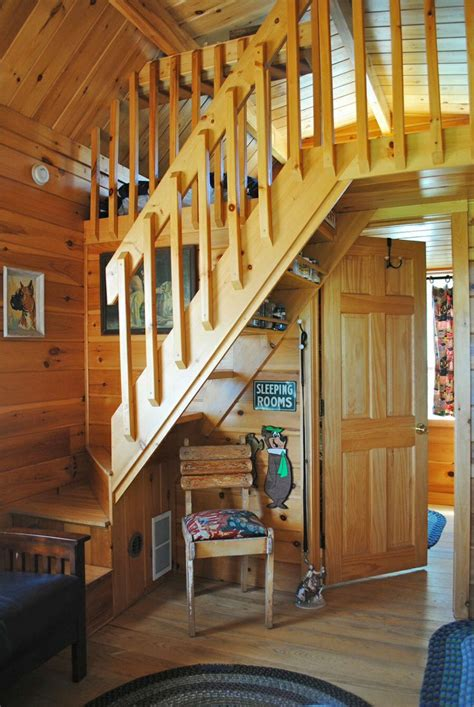 pin by sherry lotze on cabins pinterest badrap tiny cabin stairs to bedroom loft amazing tiny