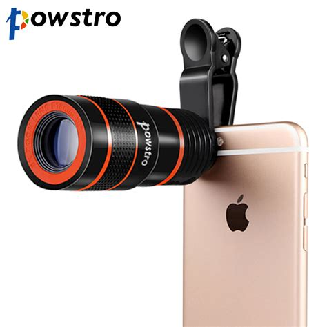 Mobile Phone Telescope Lens 8x Optical Zoom Universal Cl Black 6 universal clip on 8x optical zoom hd telescope lens for cell phone iphone ebay
