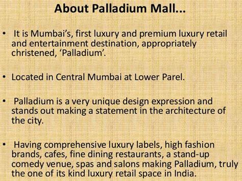 Mba In Luxury Brand Management In Mumbai by Palladium Mall