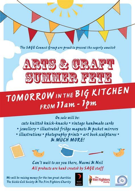 Summer Fete Poster Summer Fair Poster Pinterest Poster Craft Fair Poster Template Free