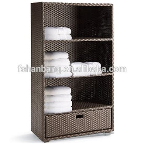 Attractive patio garden all weather wicker rattan outdoor towel storage cabinet buy outdoor