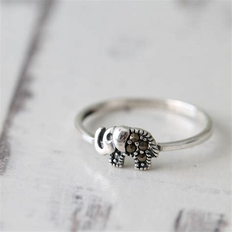 sterling silver elephant ring by attic